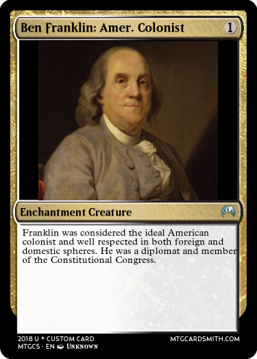 1 American Colonist Ben Franklin