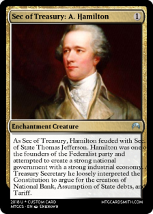 1 Sec of Treasury Hamilton
